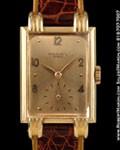 PATEK PHILIPPE 1480 RECTANGLE FANCY LUGS 18K ROSE