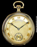 PATEK PHILIPPE GREEK KEY POCKET WATCH 18K