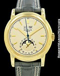 PATEK PHILIPPE VINTAGE PERPETUAL CALENDAR 2497 18K SWEEP SECONDS 1956