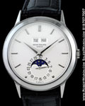 PATEK PHILIPPE VINTAGE PERPETUAL CALENDAR MOONPHASE 18K WHITE GOLD 3448 G