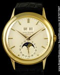 PATEK PHILIPPE VINTAGE PERPETUAL CALENDAR MOONPHASE 18K YELLOW GOLD 3448 J