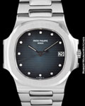 PATEK PHILIPPE 3800 P NAUTILUS DIAMONDS PLATINUM