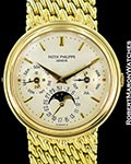 PATEK PHILIPPE 3945 J 18K AUTOMATIC PERPETUAL CALENDAR MOONPHASE