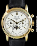 PATEK PHILIPPE 3970 J PERPETUAL CALENDAR CHRONOGRAPH 18K TRANSITIONAL BOX & PAPERS