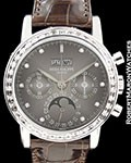PATEK PHILIPPE 3990G 18K WHITE GOLD DIAMONDS PERPETUAL CHRONO BOX PAPERS