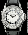 PATEK PHILIPPE 5110G 18K WHITE WORLDTIME AUTOMATIC BOX & PAPERS