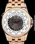 PATEK PHILIPPE 5130 1/R WORLD TIME 18K ROSE