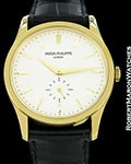 PATEK PHILIPPE OVERSIZED CALATRAVA 5196J 18K BOX PAPERS