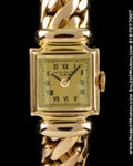 PATEK PHILIPPE VINTAGE LADIES SQUARE BRACELET WATCH 18K ROSE
