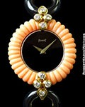 PIAGET DANCER CORAL & ONYX WITH DIAMONDS 18k