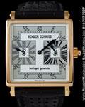 ROGER DUBUIS GOLDEN SQUARE DUAL TIME 18K ROSE