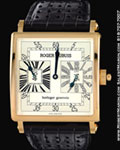 ROGER DUBUIS GOLDEN SQUARE DUAL TIME 18K ROSE GOLD