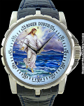 ROGER DUBUIS JESUS WALKS ON WATER ENAMEL PIECE UNIQUE WHITE GOLD