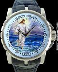 ROGER DUBUIS JESUS WALKS ON WATER ENAMEL PIECE UNIQUE WHITE GOLD