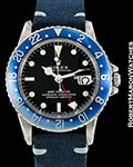 "ROLEX VINTAGE 1675 GMT MASTER ""BLUEBERRY"" BLUE BEZEL 1965"