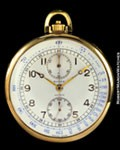 ROLEX 3068 CHRONOGRAPH POCKET WATCH 18K