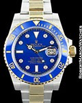 ROLEX SUBMARINER 116613 BLUE STAINLESS STEEL/18K GOLD DIAMONDS