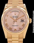 ROLEX DAY DATE PRESIDENT 118205 18K ROSE AUTOMATIC BOX PAPERS