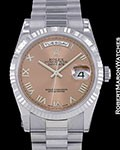 ROLEX DAY DATE PRESIDENT 118239 18K WHITE GOLD NEW AUTOMATIC