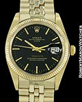 ROLEX VINTAGE DATE 1503 14K TIFFANY DIAL UNPOLISHED AUTOMATIC 1978