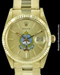 ROLEX OYSTER DATE 15037 14K SAUDI KING KHALID MILITARY ACADEMY 1987