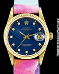 ROLEX VINTAGE 15238 DATE 18K AUTOMATIC RARE BLUE ENAMEL DIAL 1995