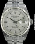ROLEX VINTAGE DATEJUST 1601 AUTOMATIC 18K WHITE GOLD/STEEL 1972