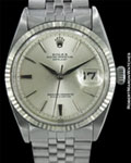 ROLEX VINTAGE DATEJUST 1601 AUTOMATIC 18K WHITE GOLD/STEEL 1964