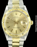 ROLEX DATEJUST THUNDERBIRD 1625 14K/STEEL BOX PAPERS AUTOMATIC 1968