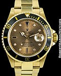 ROLEX SUBMARINER 16618 18K GOLD SERTI DIAL AUTOMATIC BOX PAPERS