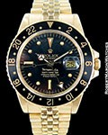 ROLEX TIFFANY GMT MASTER 1675 18K 1979