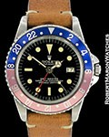 ROLEX VINTAGE GMT MASTER 1675 POINTED CROWN GUARDS GILT UNDERLINE DIAL 1962