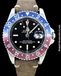 ROLEX VINTAGE GMT MASTER 1675 GILT CHAPTER RING ! EXCLAMATION DIAL 1961