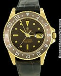 ROLEX VINTAGE MARK 1 18K GMT MASTER 1675 AUTOMATIC BROWN DIAL 1967