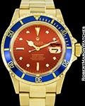 ROLEX VINTAGE SUBMARINER 1680 18K TROPICAL HAVANA DIAL AUTOMATIC 1972