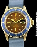 ROLEX VINTAGE SUBMARINER 1680 18K TROPICAL HAVANA DIAL AUTOMATIC