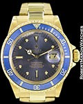 ROLEX VINTAGE SUBMARINER 1680 18K COLOR CHANGE DIAL AUTOMATIC 1977