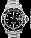 ROLEX VINTAGE TIFFANY & CO. RED SUBMARINER 1680 STEEL AUTOMATIC