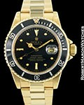ROLEX VINTAGE SUBMARINER 16808 18K AUTOMATIC BLACK DIAL 1980