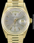 ROLEX VINTAGE DAY DATE PRESIDENT 1803 18K AUTOMATIC GREY DIAL 1970