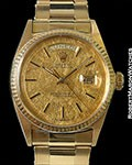 ROLEX DAY DATE 1803 PROTOTYPE GOLD LEAF DIAL