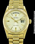 ROLEX VINTAGE DAY DATE PRESIDENT 1803 18K BOX PAPERS 1965
