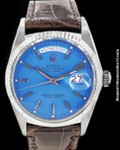 ROLEX VINTAGE DAY DATE PRESIDENT 1803 18K WHITE GOLD AUTOMATIC 1968