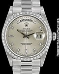 ROLEX VINTAGE DAY DATE PRESIDENT 18049 18K WHITE GOLD AUTOMATIC
