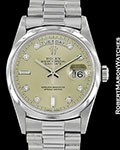 ROLEX DAY DATE PRESIDENT PLATINUM 18206 DIAMOND DIAL AUTOMATIC