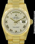 ROLEX DAY DATE PRESIDENT 18238 18K AUTOMATIC BOX PAPERS