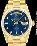 ROLEX DAY DATE PRESIDENT 18238 18K AUTOMATIC BOX PAPERS R SERIAL 1987