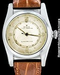 ROLEX VINTAGE SHORT SECONDS BUBBLE BACK 2940 STEEL AUTOMATIC 1940s