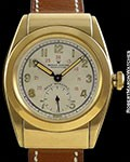 ROLEX BUBBLE BACK 3065 14K HOODED CASE TWO TONE SILVER DIAL