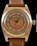 ROLEX BUBBLE BACK 3131 14K ROSE GOLD 3 TONE ROSE DIAL